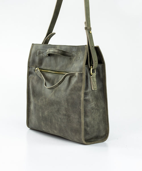 Eros grey Everyday Leather Crossbody