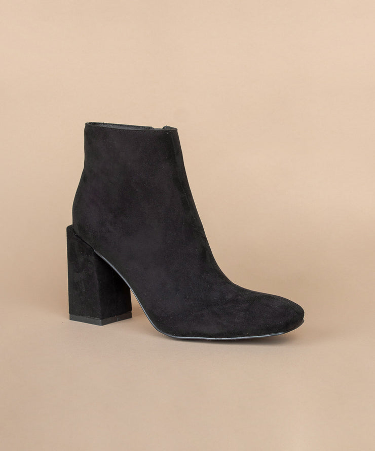 Evolve black Suede Stacked Block Heel