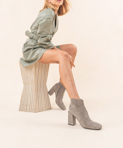 The Evolve Grey | Suede Ankle Bootie - FINAL SALE