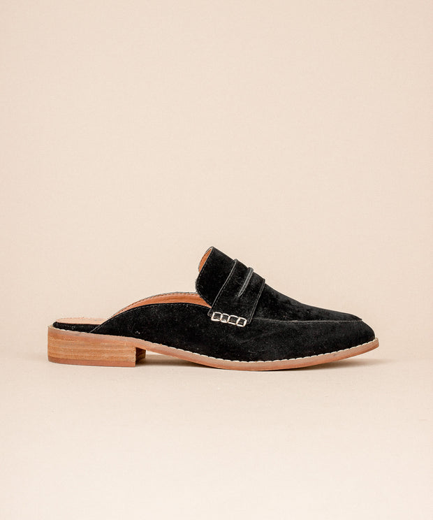 Faroe black Classic Backless Loafer