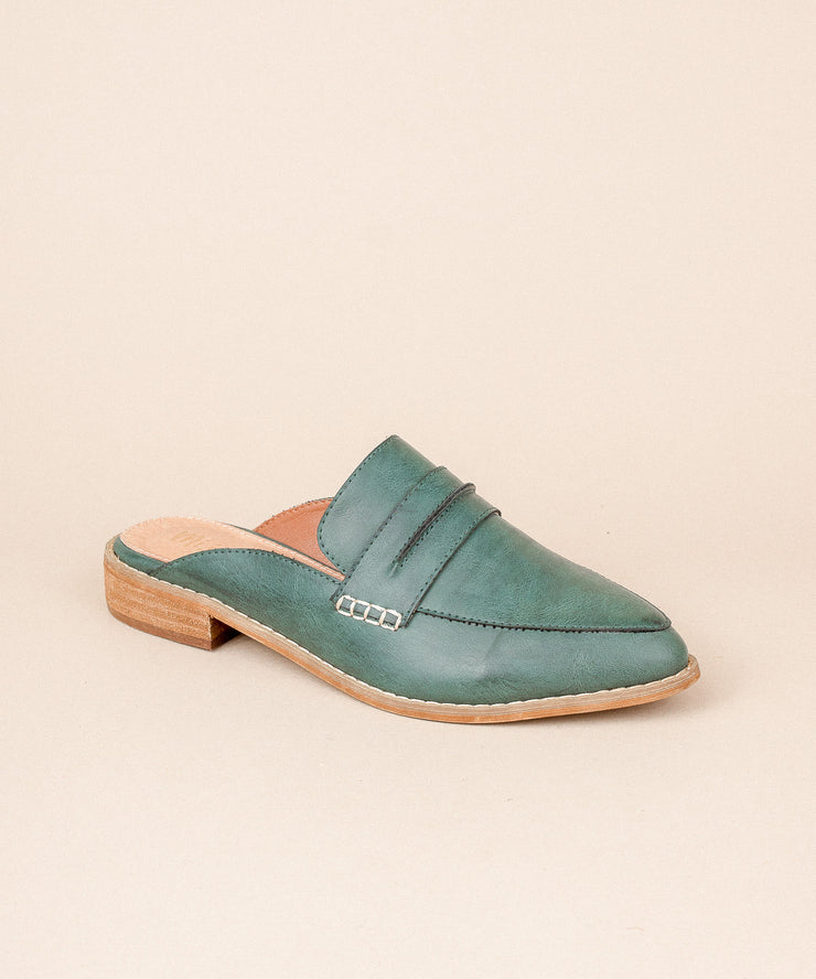 Faroe turquoise Classic Backless Loafer