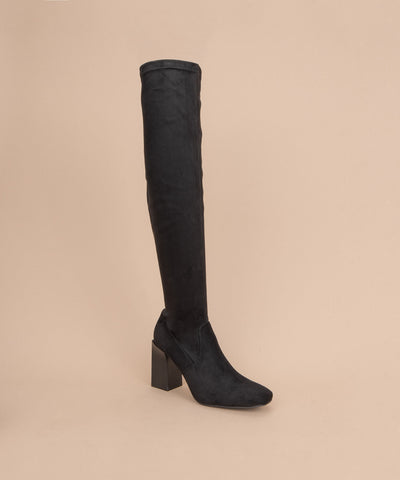 Faye black Over The Knee High Heel Boot