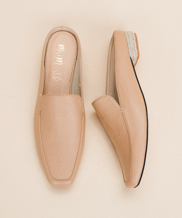 Fleur Beige | Business Loafer Mule