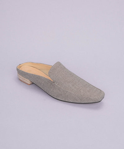 Fleur Grey | Business Loafer Mule