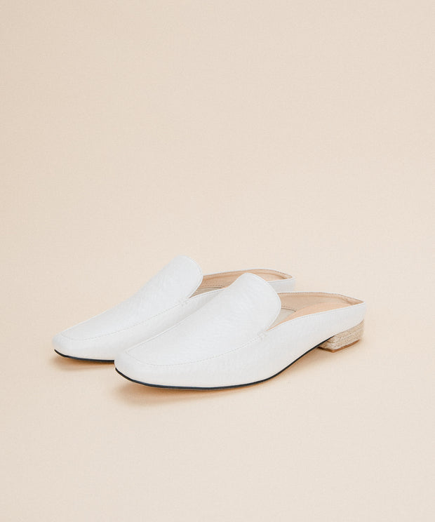 Fleur White | Business Loafer Mule