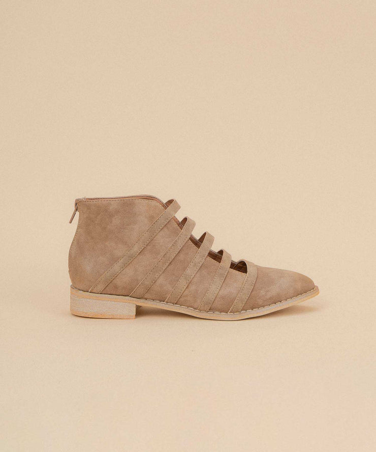 Florence caramel Open-Cut Ankle Bootie
