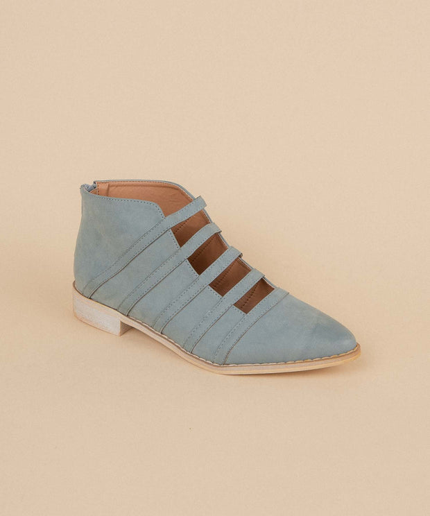 Florence light-blue Open-Cut Ankle Bootie