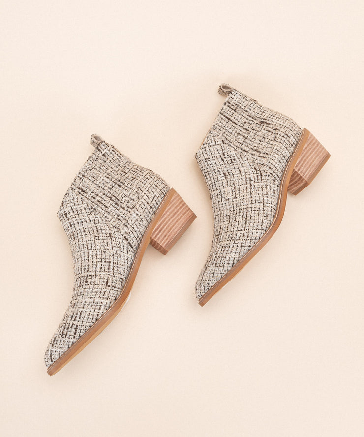 Francis Beige | Panelled Chelsea Bootie