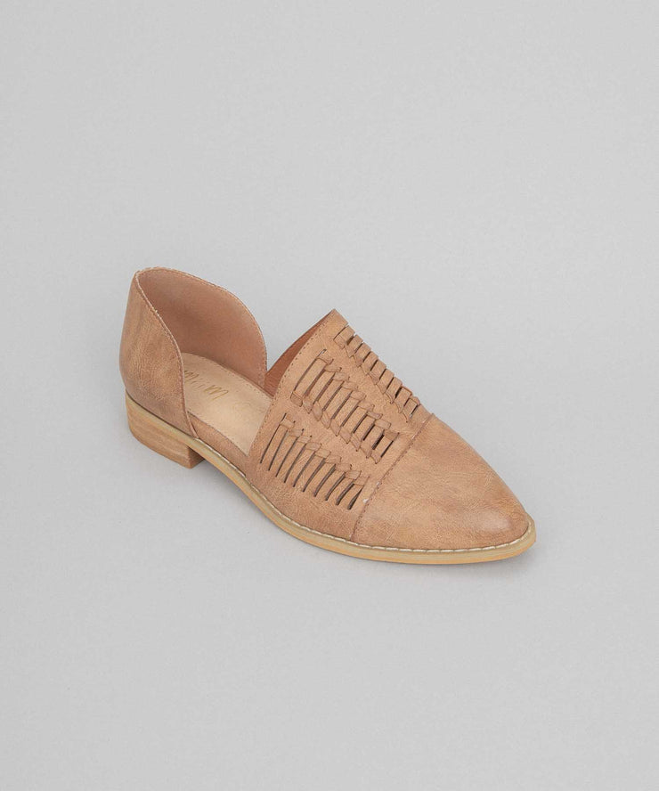 Freesia copper Metallic Pointed Flats