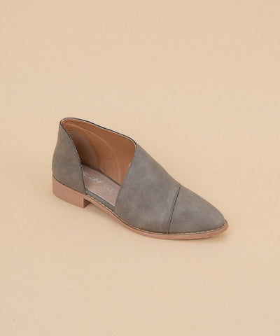 Freya grey Asymmetric Pointed-Toe Flat