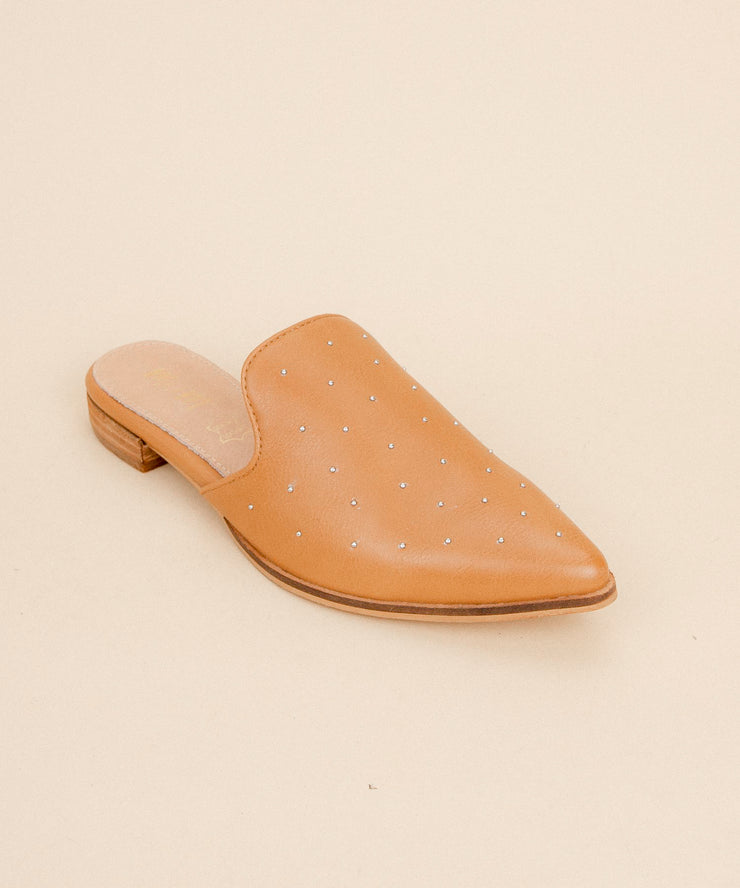 Gaze camel Ball Studded Pointed Mule