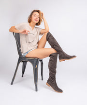 Gwen charcoal Classic Riding Boots