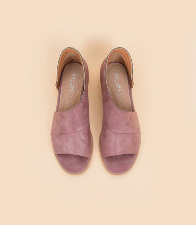 Harley purple Open-Toe Asymmetric Flat