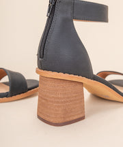 IIA Black | One Band Low Heel