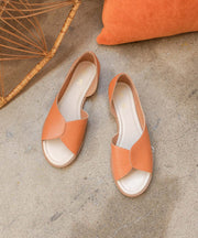 Iris orange Petal Design Sandal