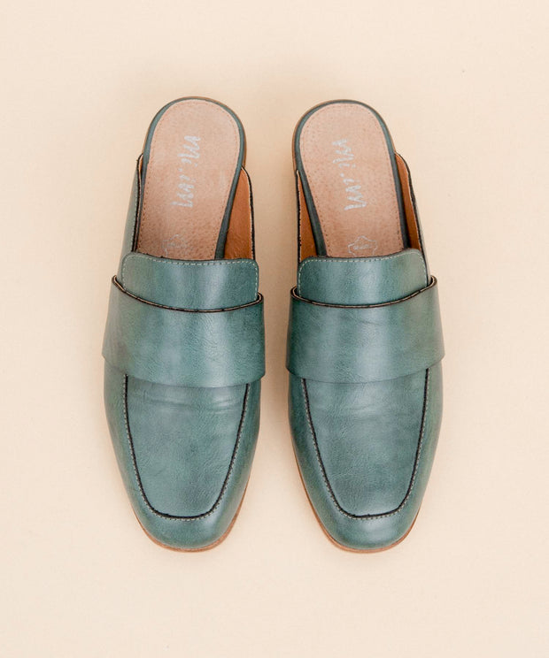 The Joanne | Manmade Leather Loafer Mule - FINAL SALE