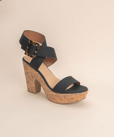 Julian Black | Retro Cork Platform Heel