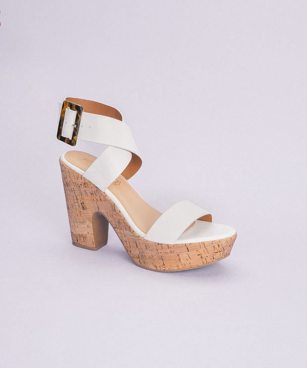 Julian White| Retro Cork Platform Heel