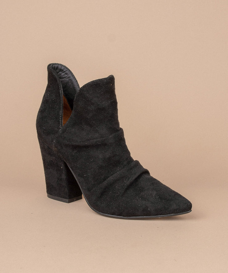 Kendell black Distressed Snakeskin Bootie