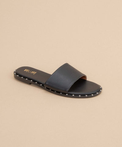 Khloe black Studded Slide