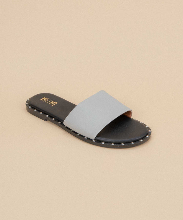 Khloe grey Studded Slide