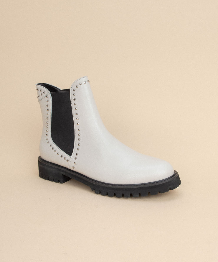 Laura white Studded Chelsea Boot