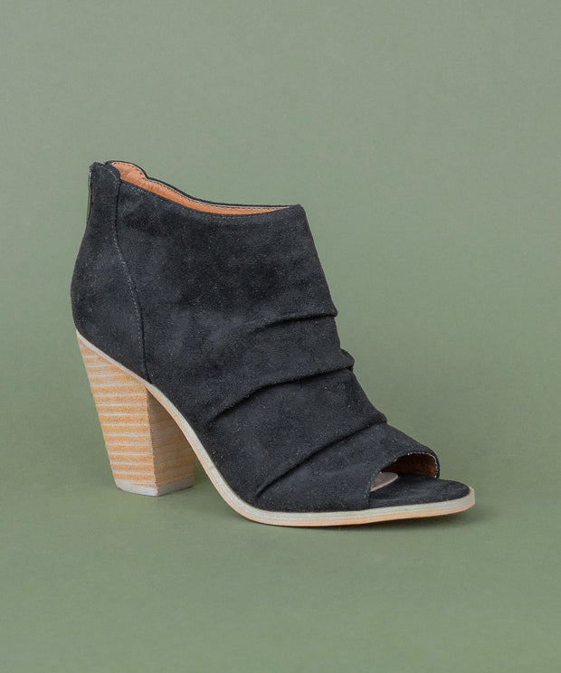 The Lauren | Slouchy Peep Toe Bootie