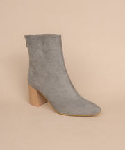 Lexie grey Block Heel Bootie