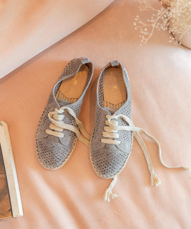 London grey Espadrille Sneaker