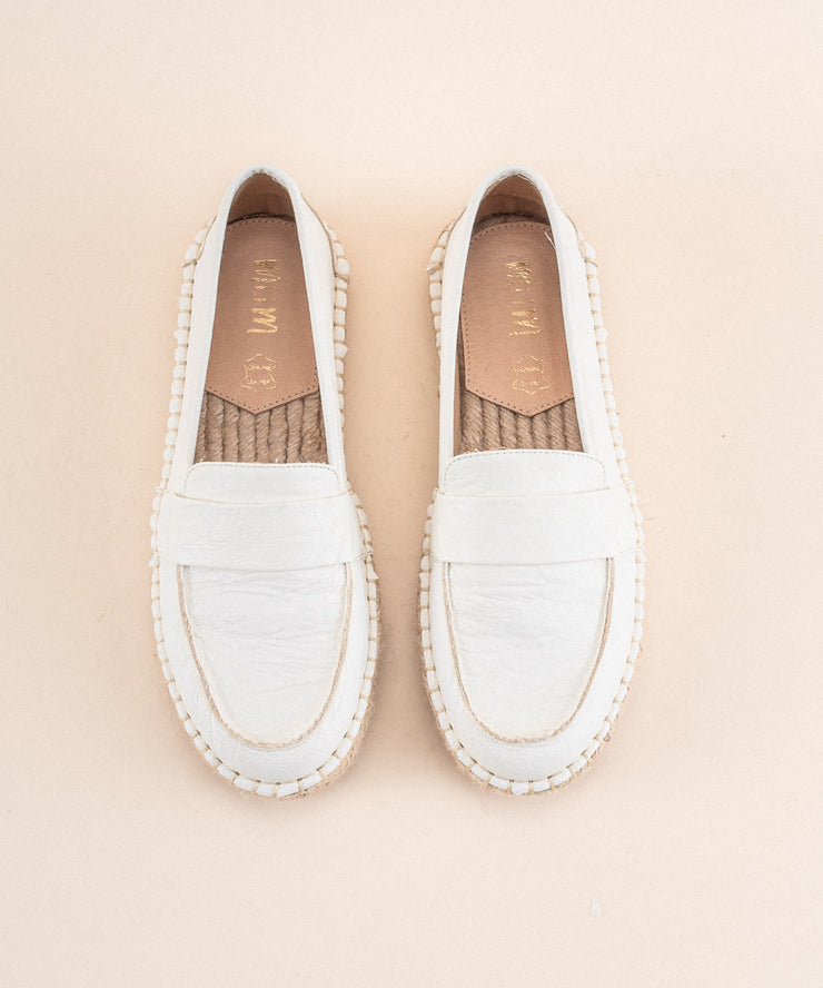 Lucca white Espadrille Loafer