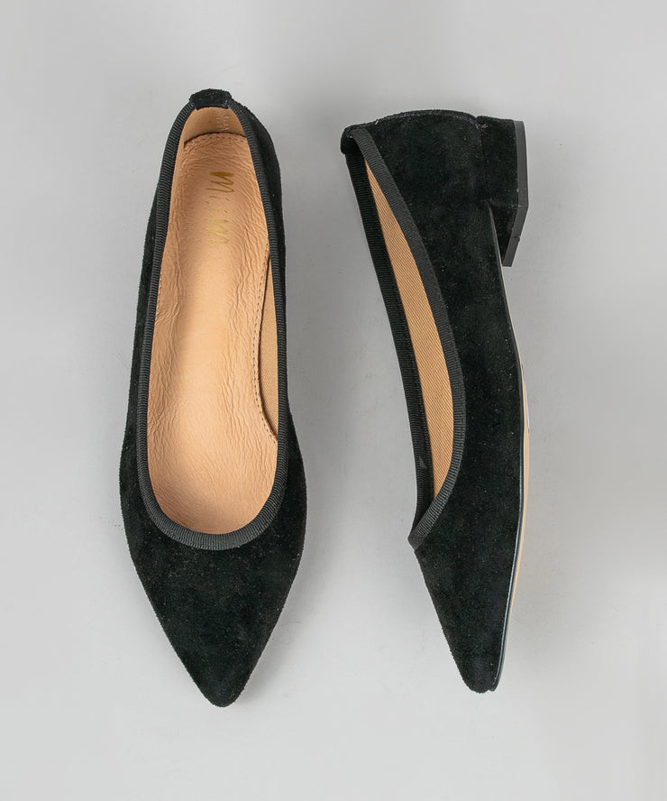 Luna black Pointed Ballet-Style Flat