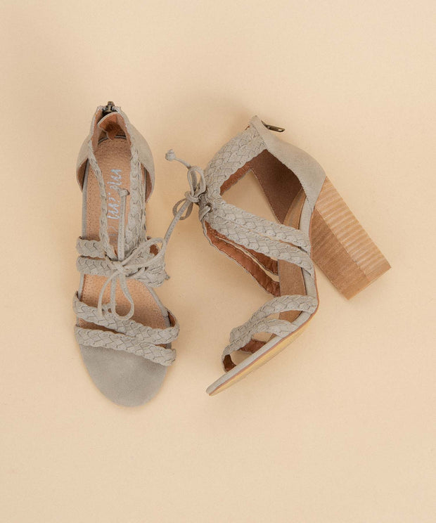 Mai Tai light-grey Butterfly Tassled Chunky Heel