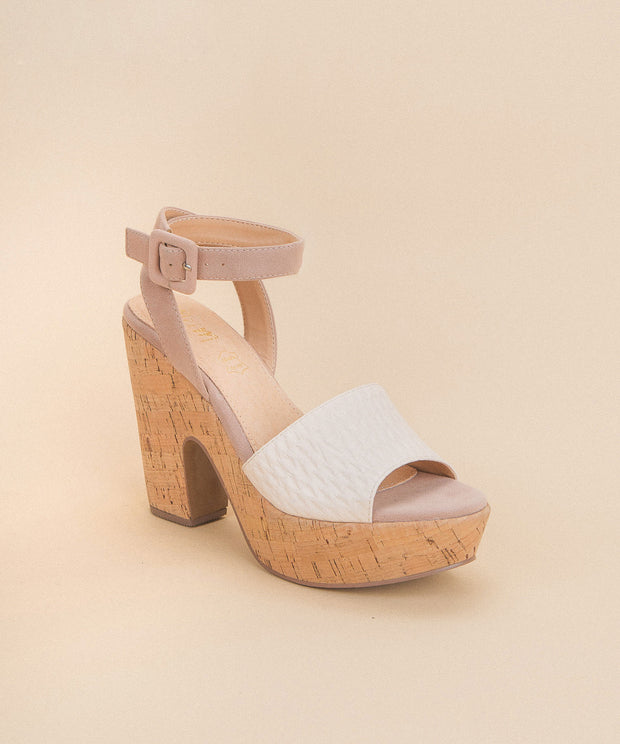 Margot Dusty Rose | Chunky Cork Platform Heels