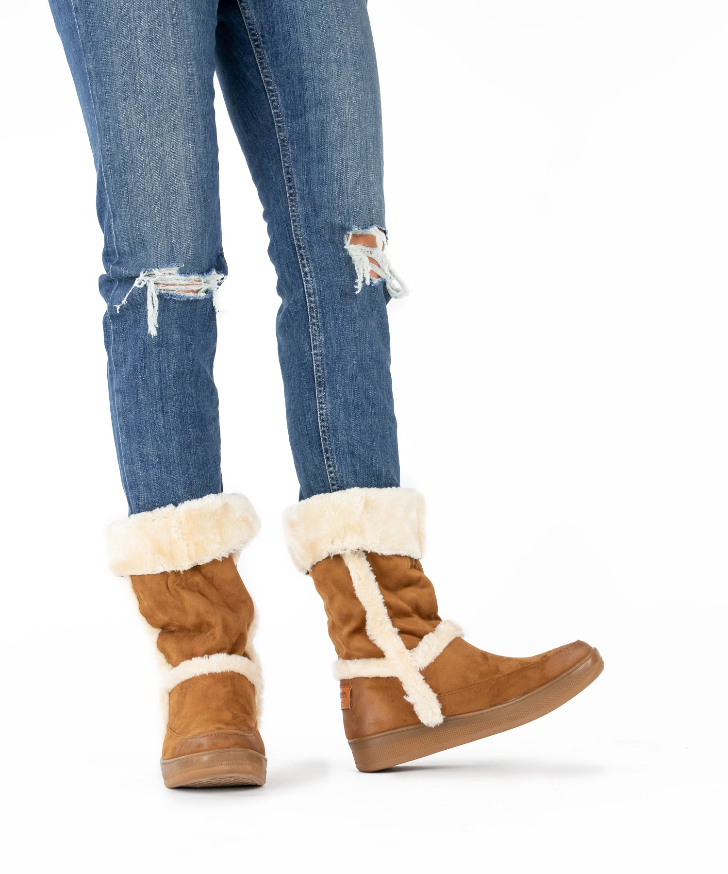 Marshmallow 04 camel Sheepskin Suede Cold Weather Boot