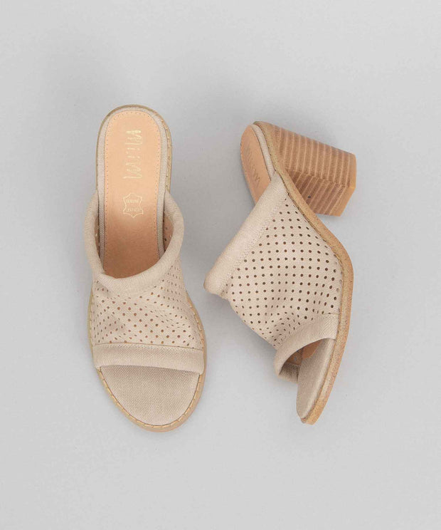 Meadow taupe Funky Perforated Wedge