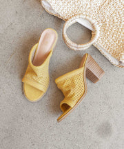 The Meadow Yellow | Funky Perforated Wedge - FINAL SALE
