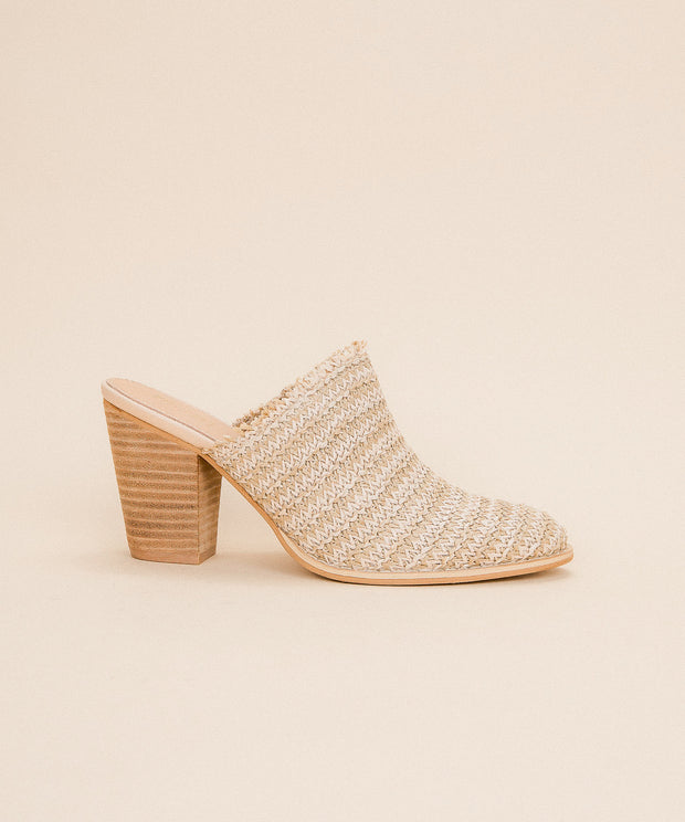 The Melanie | Basket Weave Block Heel