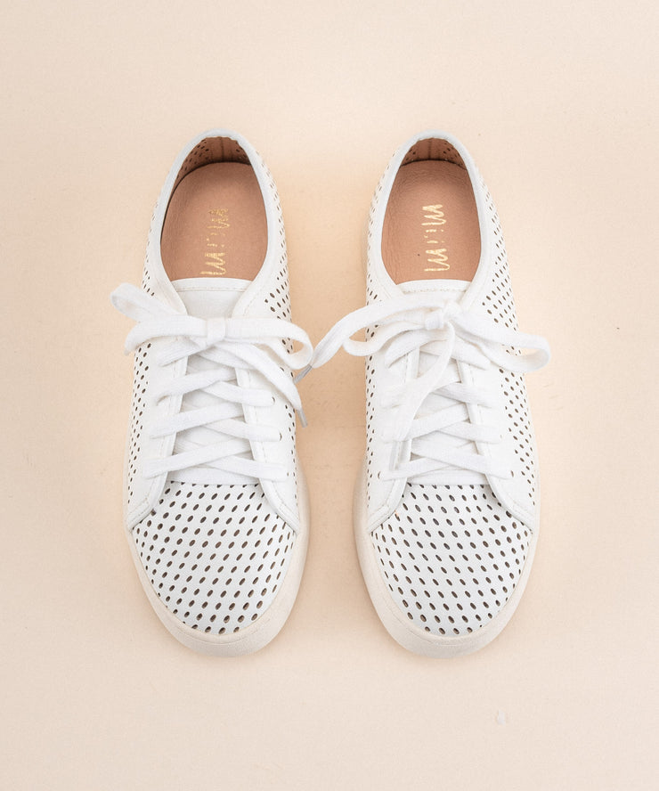 Milo white Perforated Sneaker