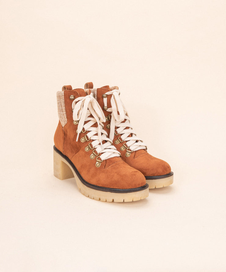 Monroe Camel | Contemporary Military Bootie