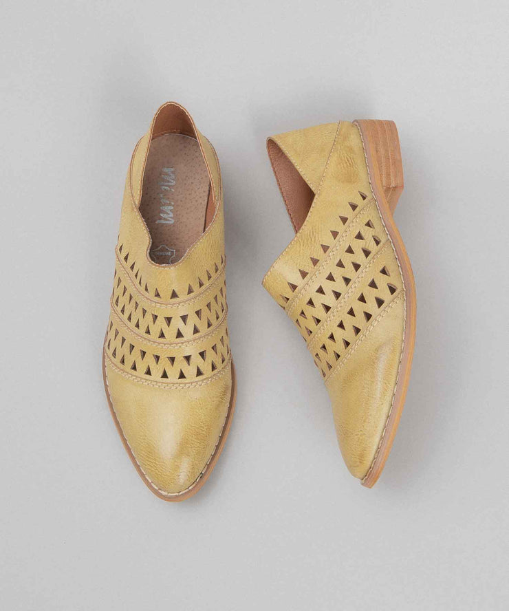 Stella mustard Convertible Loafer-To-Mule