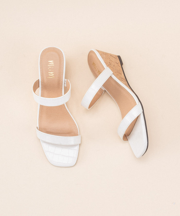 Nate White | Double Strap Wedge Sandal