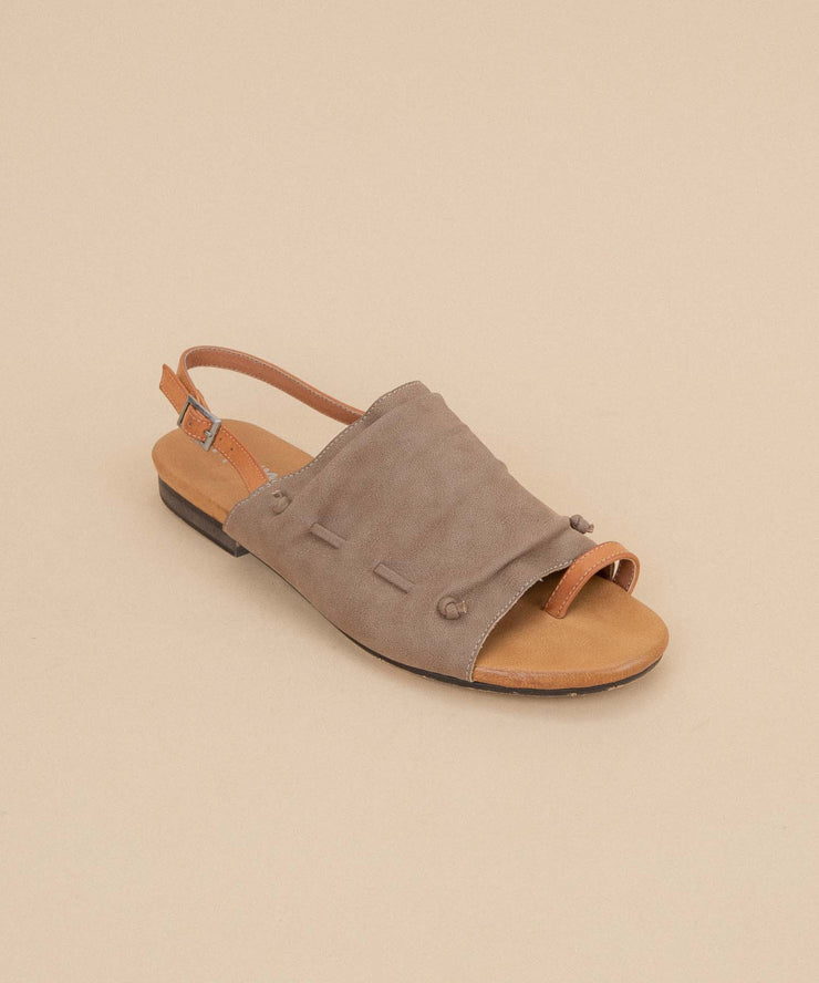 Nikki taupe Beachy Toe-Loop Slide