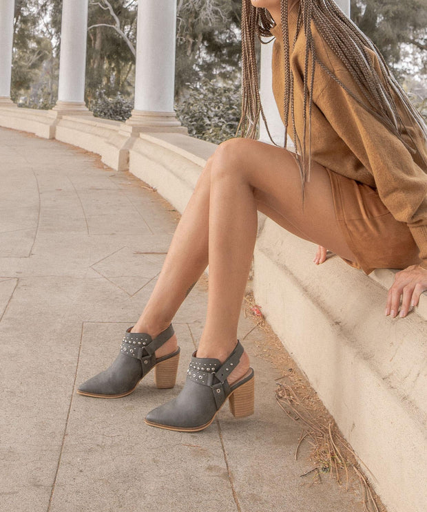 Philomena dark-grey Embellished Boho Bootie