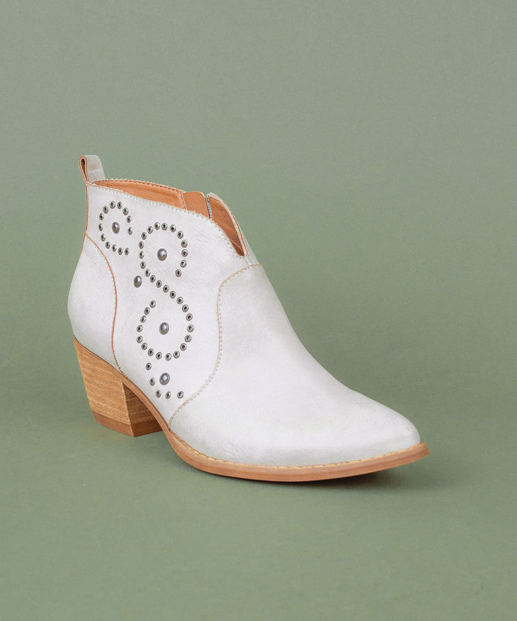 Posh lilac Sophisticated Western Ankle Bootie
