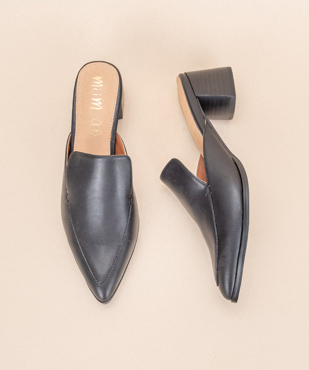Raven black Pointed Business Pumps