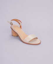 Renee Beige One-Band Cork Heel