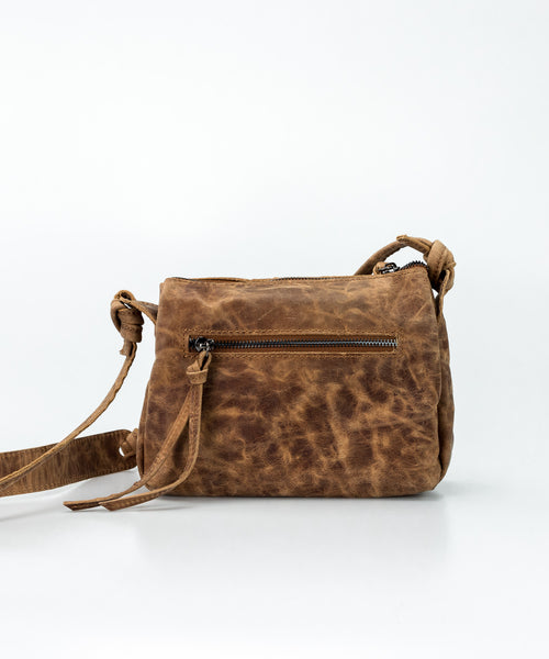 Roman brown Small Crossbody Satchel