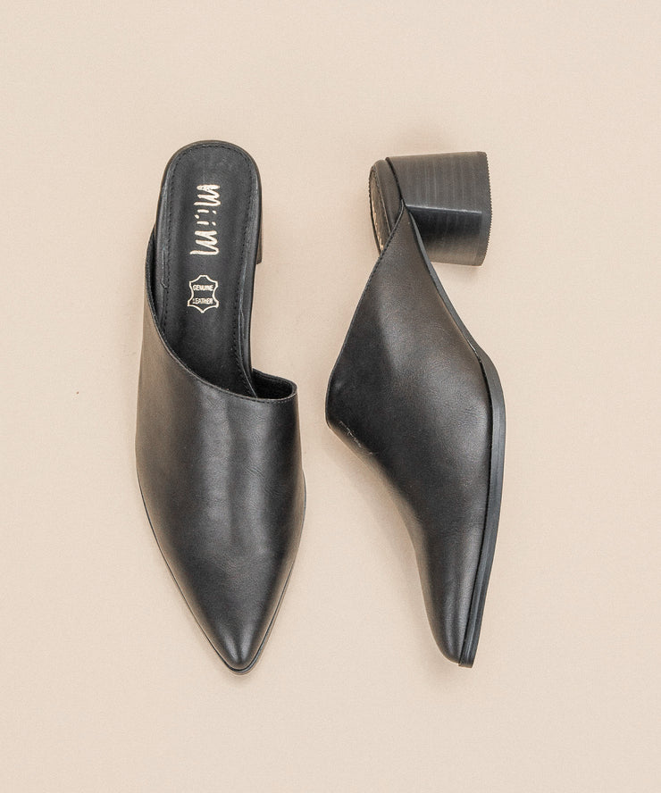 The Sabrina black Asymmetric Block Heel