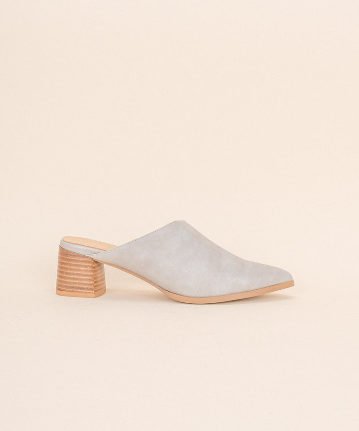 The Sabrina grey Asymmetric Block Heel