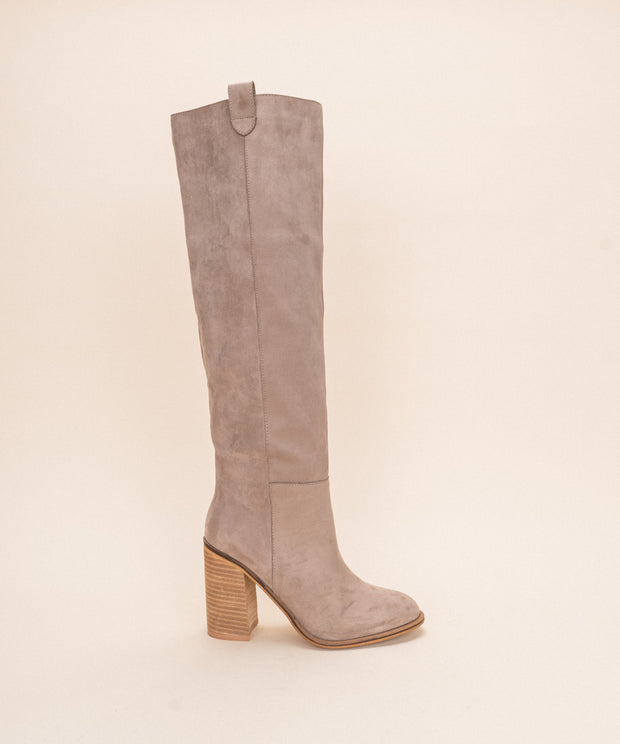 The Saint | Handmade Suede Tall Boot